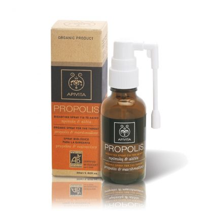 Apivita Propolis Βιολογικό Spray για το Λαιμό με Αλθαία & Πρόπολη 30ml