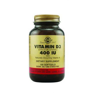 Solgar Vitamin D3 400IU 10μg 100caps
