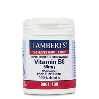 Lamberts Vitamin B6 50mg 100tabs