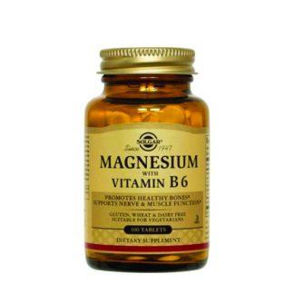Solgar Magnesium + B6 100tabs