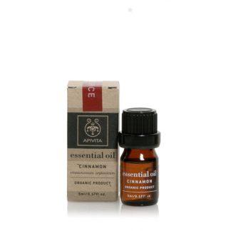 Apivita Essential Oils Αιθέριο Έλαιο Κάνελλα 5ml