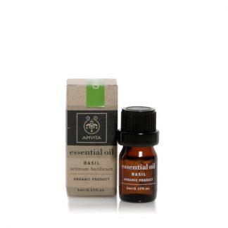 Apivita Essential Oils Αιθέριο Έλαιο Βασιλικού 5ml
