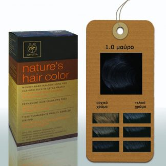 Apivita Nature's Hair Color Μόνιμη Βαφή Μαλλιών 1.0 Μαύρο