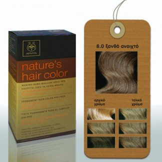Apivita Nature's Hair Color Μόνιμη Βαφή Μαλλιών 8.0 Ξανθό Ανοιχτό