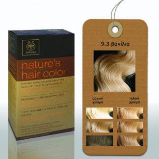 Apivita Nature's Hair Color Μόνιμη Βαφή Μαλλιών 9.3 Βανίλια