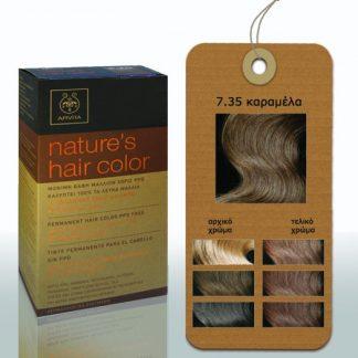 Apivita Nature's Hair Color Μόνιμη Βαφή Μαλλιών 7.35 Καραμέλα
