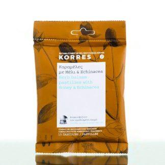 Korres Καραμέλες για το Λαιμό με Μέλι & Echinacea 15τμχ