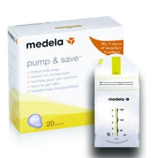 Medela Pump & Save Σακουλάκια Φύλαξης Μητρικού Γάλακτος 20τμχ