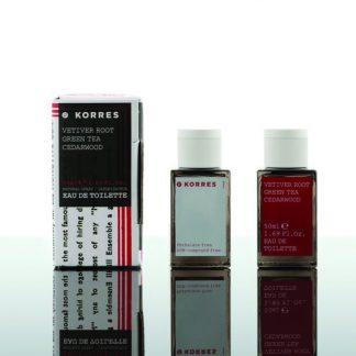 Korres Eau De Toilette Vetiver Root Green Tea Cedarwood 50ml