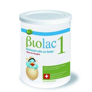 Biolac 1 Bιολογικό Γάλα Για Βρέφη 400gr
