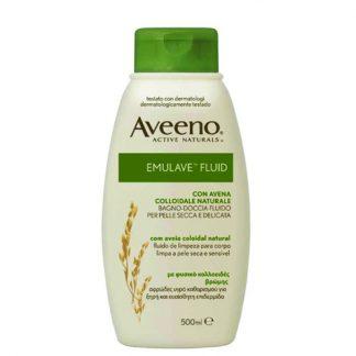 Aveeno Emulave Fluid Αφρώδες Υγρό Καθαρισμού για την Ξηρή Επιδερμίδα 500ml