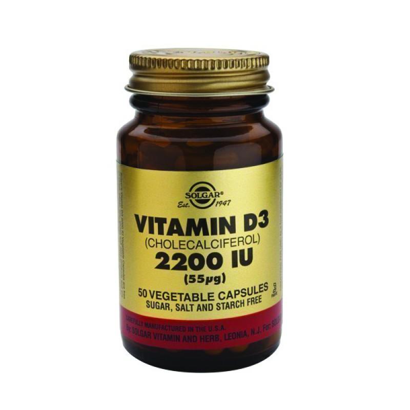 Solgar Vitamin D3 2200IU 55μg 50caps
