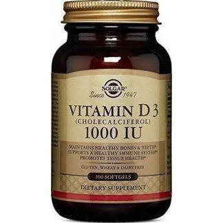 Solgar Vitamin D3 1000IU 25μg 100Softgels