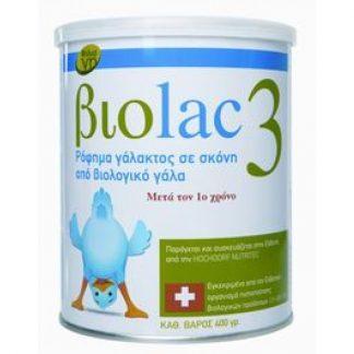Biolac 3 Bιολογικό Γάλα Για Βρέφη 400gr