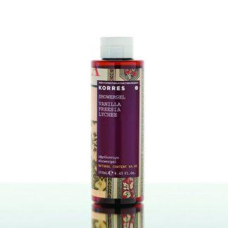 Korres Showergel Vanilla, Freesia, Lychee 250ml