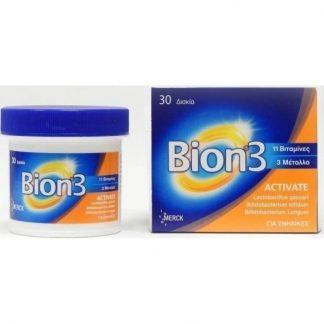 Bion 3 Activate Πολυβιταμινούχο Συμπλήρωμα 30tabs