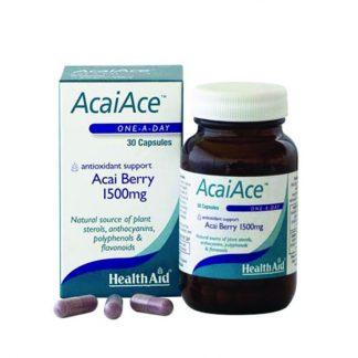 Health Aid Acai Ace Berry 1500mg Αντιοξειδωτική Προστασία 30tabs