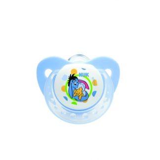 NUK Trendline Disney Μπλε Πιπίλα Σιλικόνης με Κρίκο Μέγεθος 1 από 0-6 μηνών (10.729.911)