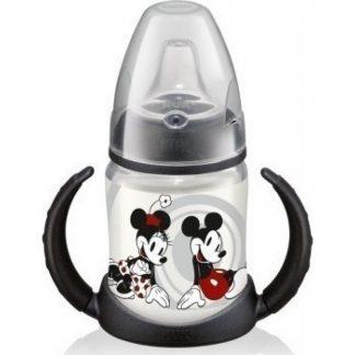 NUK First Choice Disney Mickey Μαύρο Ποτηράκι με Λαβές & Στόμιο Σιλικόνης. 6-18 μηνών 150ml (10.743.455)
