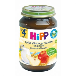 Hipp Βρεφική Κρέμα Γάλακτος με Σιμιγδάλι & Φρούτα 190gr