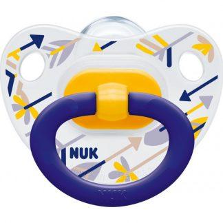 Nuk Πιπίλα Classic Happy Days Κίτρινο/ Μπλε 18-36m 1τμχ 10.739.033