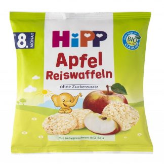 Hipp Ρυζογκοφρετάκι Μήλου 35gr 17τμχ