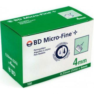 BD Microfine 32G 4mm Bελόνες Χορήγησης Ινσουλίνης 100τμχ