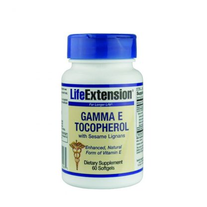 Life Extension Gamma E Tocopherol with Sesame Lignans 60Softgels