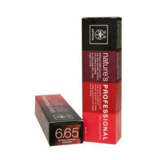 Apivita Nature's Hair Color Professional Μόνιμη Βαφή Μαλλιών 6.65 Έντονο Κόκκινο