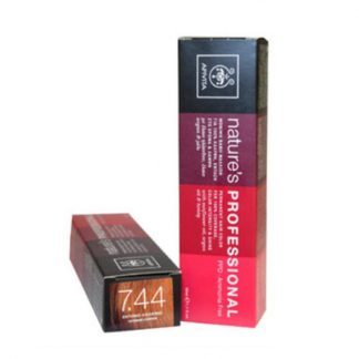 Apivita Nature's Hair Color Professional Μόνιμη Βαφή Μαλλιών 7.44 Έντονο Xάλκινο