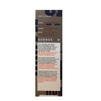 Korres Men's Cream Σφένδαμος Αντιρυτιδική Κρέμα Προσώπου & Ματιών 50ml