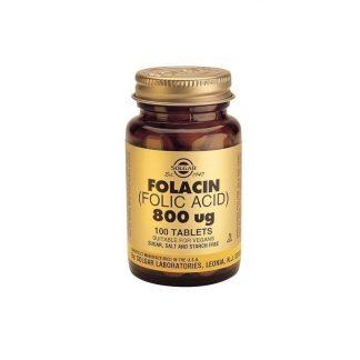Solgar Folic Acid 800mcg 100tabs