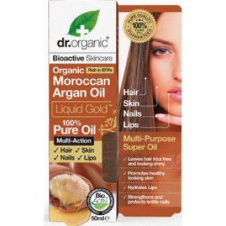 Dr. Organic Moroccan Argan Oil Liquid Gold 100% Pure Oil 50ml