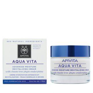 Apivita Aqua Vita Κρέμα 24ωρης Ενυδάτωσης για Λιπαρές/Μικτές Επιδερμίδες 50ml
