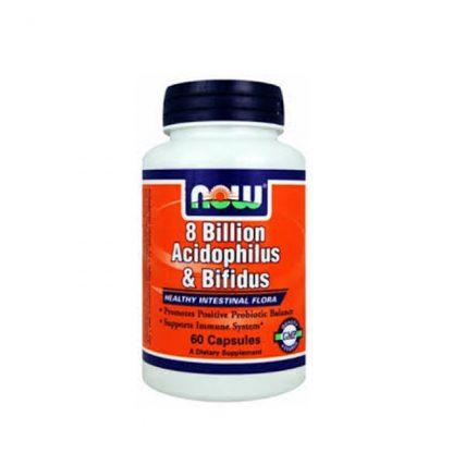 Now Acidophilus/Bifidus 8 Billion 60tabs