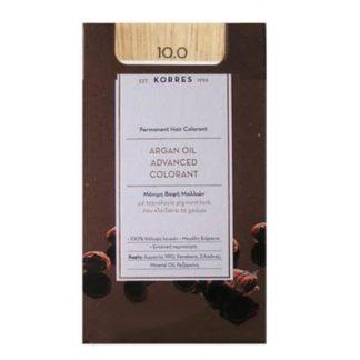 Korres Argan Oil Advanced Colorant 10 Ξανθό Πλατίνας