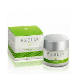 Exelia Anti-Wrinkle Night Cream για Λιπαρές Επιδερμίδες 50ml