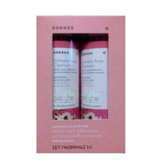 Korres Καθαρισμός Ευαίσθητης Περιοχής με Χαμομήλι & Lactic Acid 2x250ml