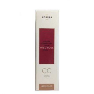 Korres Wild Rose Cream Μέτριας Υφής 30ml