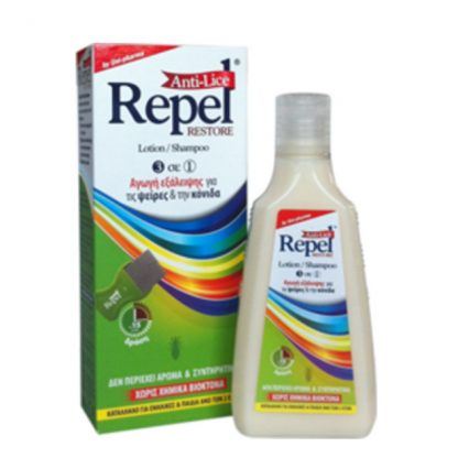 Uni-Pharma Repel Anti-Lice Restore Lotion & Shampoo Αγωγή 3 σε 1 200gr