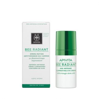 Apivita Bee Radiant Κρέμα Ματιών Αντιγήρανσης και Λάμψης 15ml