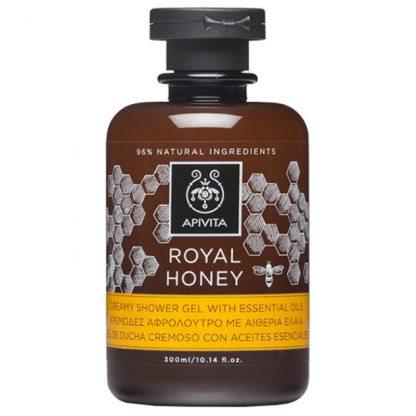 Apivita Royal Honey Κρεμώδες Αφρόλουτρο με Αιθέρια Έλαια 300ml