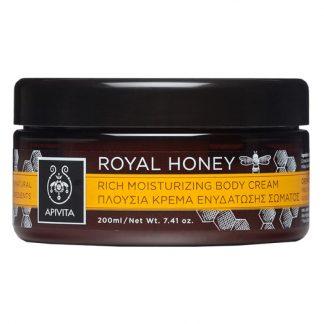 Apivita Royal Honey Πλούσια Κρέμα Ενυδάτωσης Σώματος με Μέλι 200ml