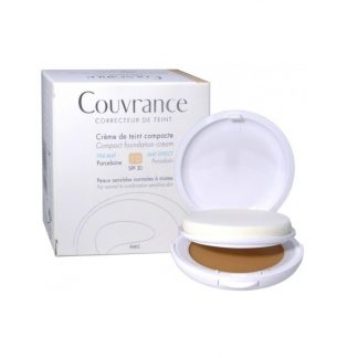 Avene Couvrance Compact Foundation Cream Oil-Free Powered Finish Formula SPF30 01 Porcelaine 10gr