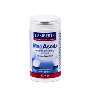 Lamberts Mag Asorb Μαγνήσιο 60tabs