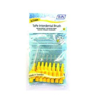 TePe X-Fine Μεσοδόντια Βουρτσάκια Κίτρινα 0,7mm