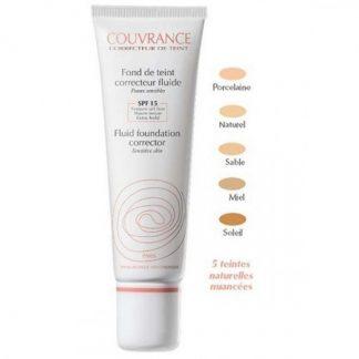 Avene Couvrance Fluid Foundation Corrector SPF15 01 Porcelaine 30ml