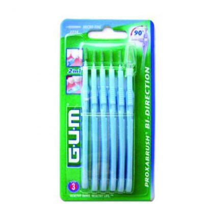 Gum Bi-Direction Micro Fine 0,9mm (ΜΠΛΕ) Μεσοδόντια Βουρτσάκια Καθαρισμού (2314)