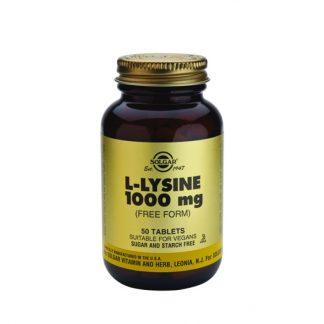 Solgar L-Lysine 1000mg 50tabs