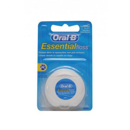 Oral B Essential Floss Κηρωμένο Οδοντικό Νήμα 50m